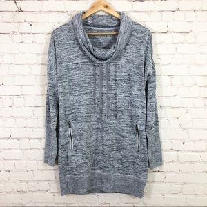 Athleta Womens Pullover Gray Sweatshirt Oversized